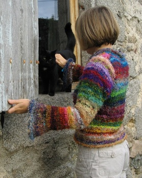 Recycled silk jumper